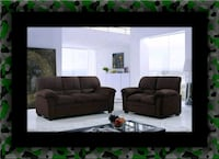 Chocolate microfiber sofa and loveseat Ashburn, 20147