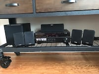 Black sony home theater system