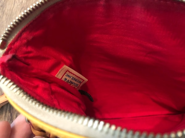 3e8754f440fb Used Yellow and brown leather crossbody bag for sale in Fort Worth - letgo