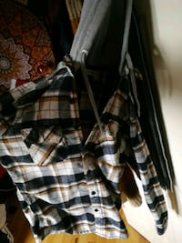 white and black plaid button-up hooded jacket Oakville, L6M 4N8
