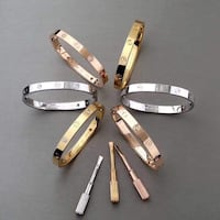 Designer inspired by Cartier bracelets (18k Gold plated)with Box Mississauga, L5M 0L2
