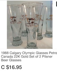 Olympic 22K Gold Pilsner Glasses Vaughan, L6A 1E8
