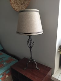 Rustic wrought iron type table lamp