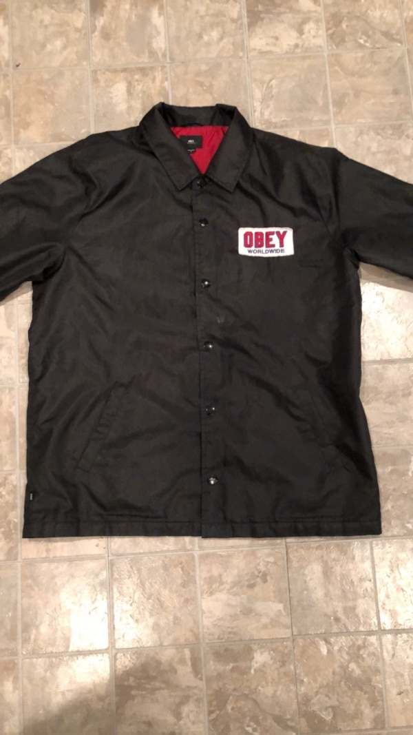 4b1df145c490 Used All black Obey jacket for sale in Milwaukee - letgo