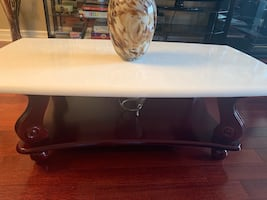 Marble Wood Coffee Table