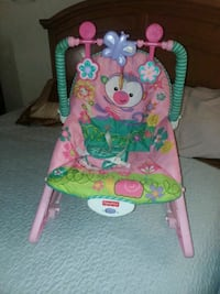 baby's pink and green Fisher-Price bouncer Bay Point, 94565