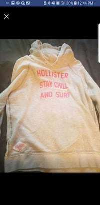 Gray and pink Hollister pullover hoodie Ankeny, 50021