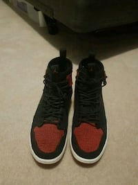 pair of black-and-red Nike sneakers Whitby, L1R 2E5