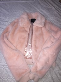 Pink puffy jacket size small fits medium