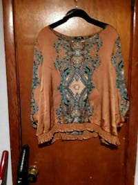 brown and blue floral long-sleeved shirt Mobile, 36605