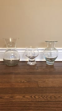 3 Glass vases $20.00 Mont-Royal, H3R