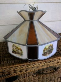 Stained glass lamp featuring English Coach House Niagara Falls, L2E 3K9
