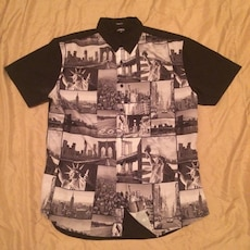 Men's New York style button up