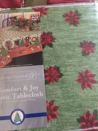 It is 60/102 Oblong tablecloth  for $8.00 If not going to buy it do not answer ad. Thank you  Frederica, 19962