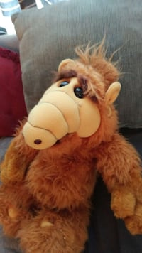 brown alf plush toy