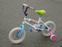"OUTGROWN YEAR OLD LIKE NEW LITTLE GIRLS 12"" CUTE LALALOOPSY BIKE WITH TRAINING WHEELS!  Mississauga"