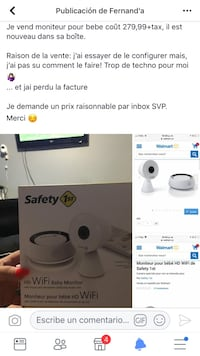 Moniteur HD wifi safety first
