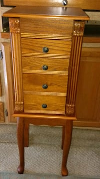 brown wooden 3-drawer chest Dundee, 33838