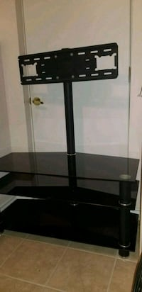 black glass top TV stand with bracket Brampton, L6P 3M9