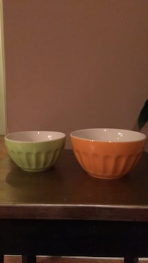 2 ceramic bowls for $5.00 or 2.50 each
