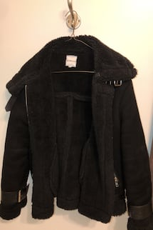 ANTHROPOLOGIE WINTER SHEARLING JACKET