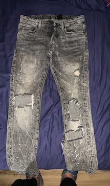 A pair of ripped jeans