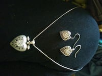 silver and diamond studded earrings and necklace Sierra Vista, 85635