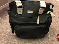 Black and white leather backpack Dallas, 75236