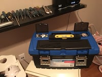 Multiple screw drivers and tool box with small leveler with drill bits 30 screw drivers in total Laval, H7K 3X8