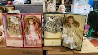 four assorted barbie dolls in boxes Ellicott City, 21043