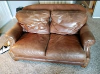 Leather and Goose feather down couch and loveseat The Colony, 75056