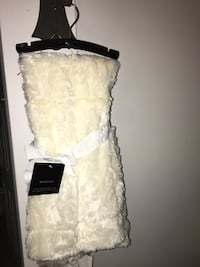 Marlo lorenzo signature faux fur quilted baby blanket