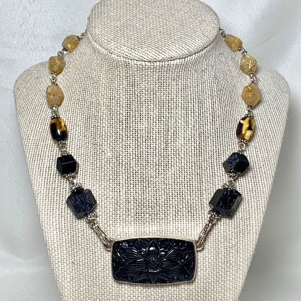 Authentic Stephen Dweck Sterling Silver Black Onyx Necklace 6df3581b-1967-4254-8995-dac9456213fe