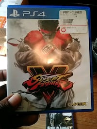 Street Fighter V PS4 game case Augusta, 30906