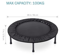 Brand New Seal in Box 38 Inch Rebounder Trampoline  Folding Indoor Trampolines with Safety Pad Max Load 220lbs Hayward, 94544