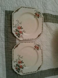2 Antique square Wedgewood Plates:Stony Plain P/U