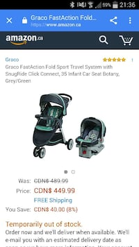 graco fastaction fold sport travel system with snu