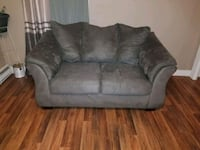 gray suede 2-seat sofa Simpson, 18407