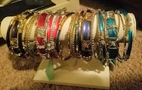 Silver-colored bangle lot