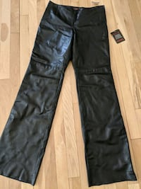 Pants, black leather, size 6 East Meadow, 11554