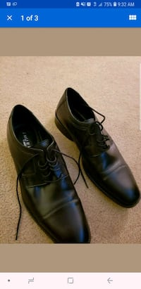 Johnston and Murphy black leather dress shoes 40 km