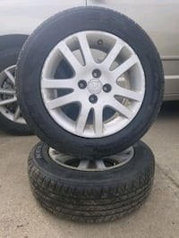 gray multi-spoke car wheel with tire set Edmonton, T5E 1Y3