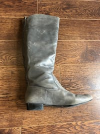 House of Harlow Grey Leather Boots - Size 9 Cambridge