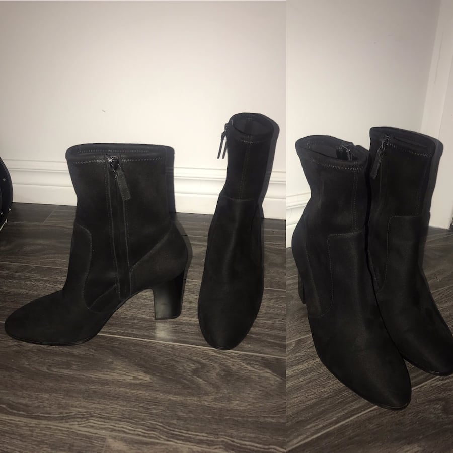 Nine West black boots size 9 like new
