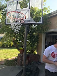 black and white basketball hoop Los Angeles, 91367