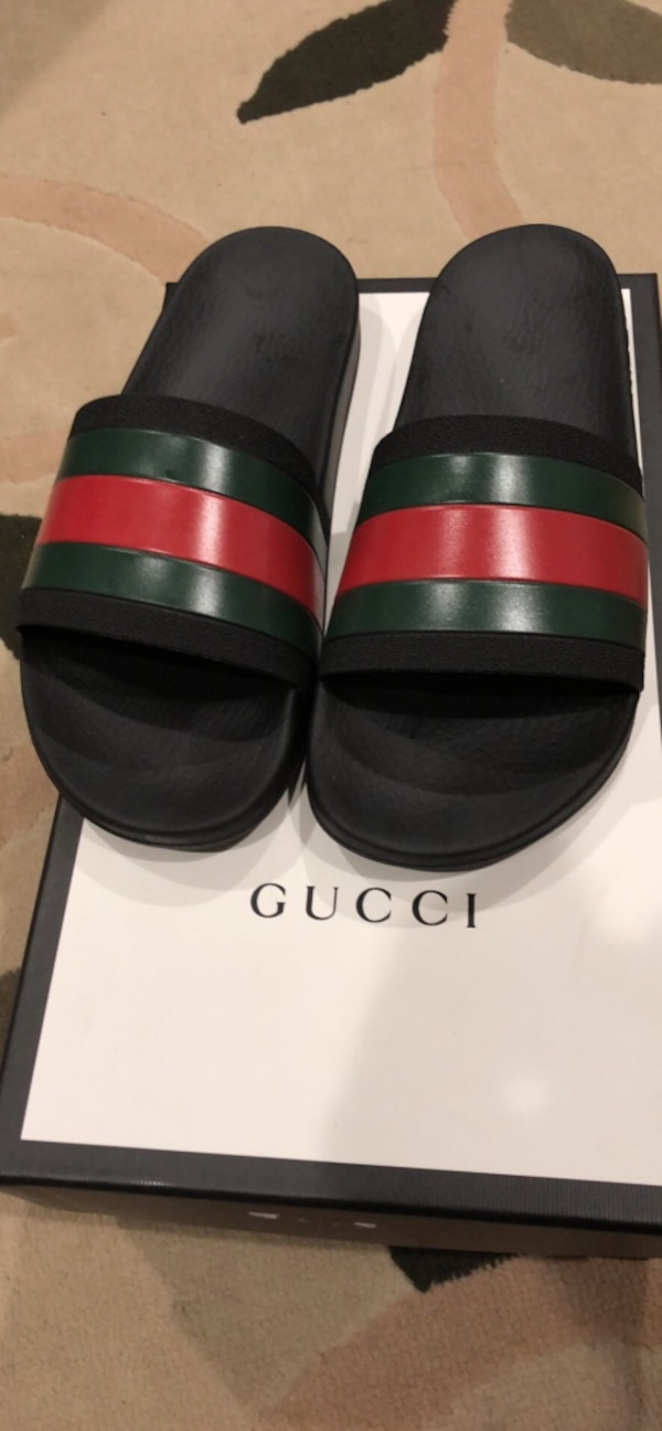 9b40155952 Used Black and red gucci slide sandals for sale in Boston - letgo