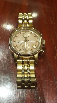 Gold Ladies Fossil Watch