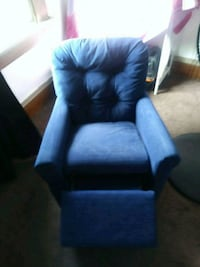 blue fabric sofa chair with ottoman Cleveland
