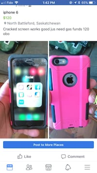 iPhone 6 with pink and black Triden case North Battleford, S9A 1Y1