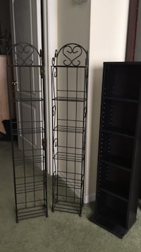 DVD racks. All in excellent condition. 2 are matching iron/metal and 1 is black wood. $8 each or all 3/$20 New Port Richey, 34655